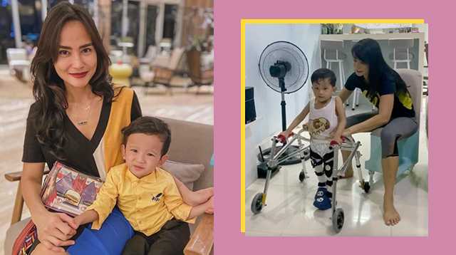 Wendy Valdez Does Home Therapy For Son Born With Spina Bifida During Quarantine