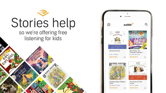 Story Time! Amazon Gives Free Access To Audiobooks For Kids Stuck At Home