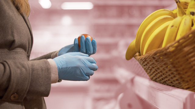 Experts Say Wearing Gloves Inside Grocery Stores Gives 'False Sense Of Security'