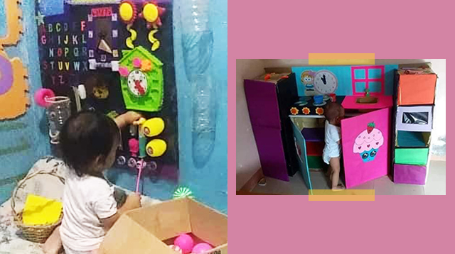 Sa Php300 Lang, May DIY Sensory Board, Toy Kitchen, At Toy Car Ka Na