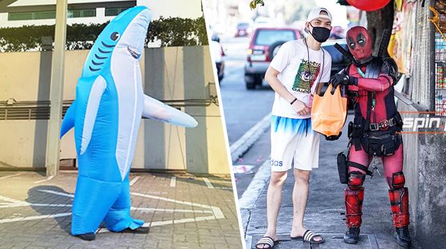 Daddy Shark At Deadpool Costumes Ang Ginamit Nilang PPE Dahil Iba Ang Pinoy!