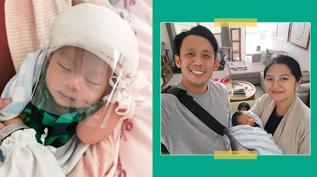 LOOK: Pinoy First-Time Dad Made A Face Shield Out Of A Soda Bottle For His Newborn Son