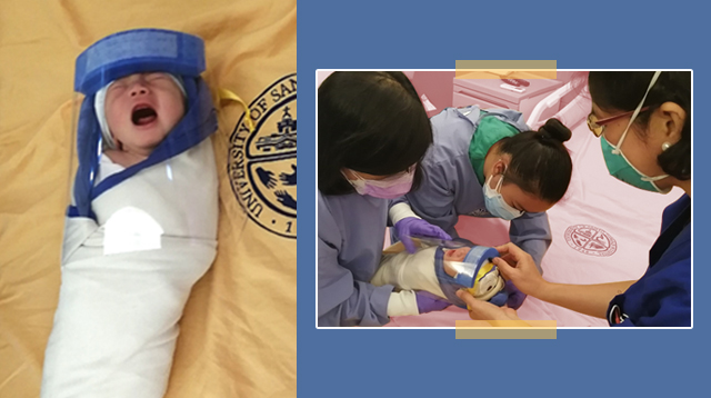 Hospital Gives Newborn A Face Shield When They Sent Him Home
