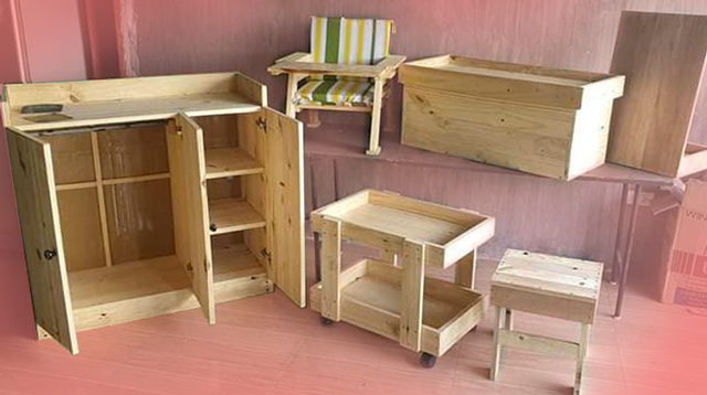 Sulit Ang Pagbutingting Ni Daddy! See The Baby Furniture He Made
