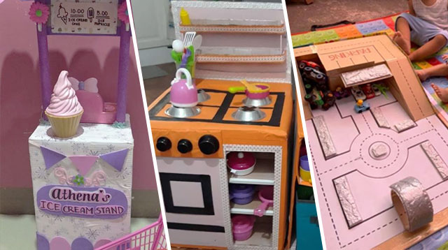 These Wais Moms Made Amazing Toys Out Of Cardboard Boxes!