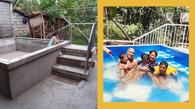 Better Than Inflatables! Family Builds Backyard Pool For P10,000