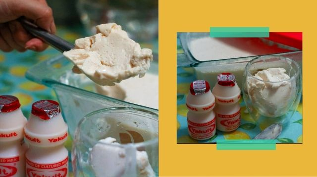 How To Make Yummy Yakult Ice Cream Using Only Two Ingredients