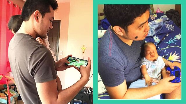 Mobile Legends? PS4? Multitasking Dads Prove Video Games and Baby Care Go Hand-in-Hand