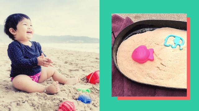 Can't Go To The Beach? Bring It Home With This Genius Sand Play Hack