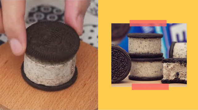 How To Make Oreo Ice Cream Sandwiches Using Only Three Ingredients!