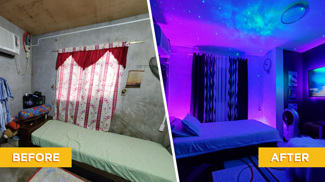 Look How A Teacher Transformed His Bedroom (Parang Hotel!)