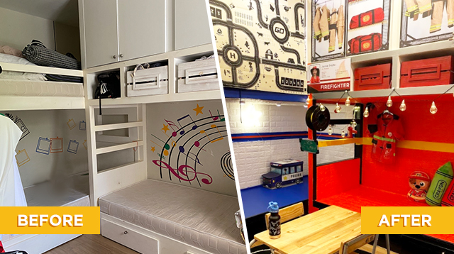 Mom Uses Wallpaper Stickers To Transform Bedroom Into Kidzania-Inspired Space