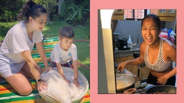 Paano Maging 'Fun' Ang Gawaing Bahay, Celebrity Parent Edition