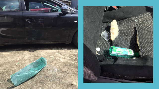 Photos Show Damage An Alcohol Bottle Can Do If Left Inside The Car On A Hot Day