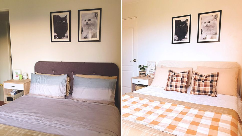 This Chic and Cozy Bedroom Makeover Was Done with a P5,000 Budget