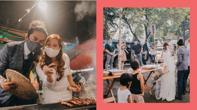 Viral 'Isaw' Wedding With Drive-Through Reception Costs P10,000