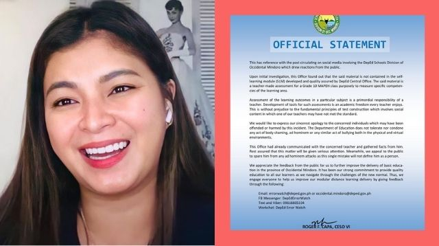 Angel Locsin On DepEd's Apology: 'The Teacher Should Apologize To His Students'