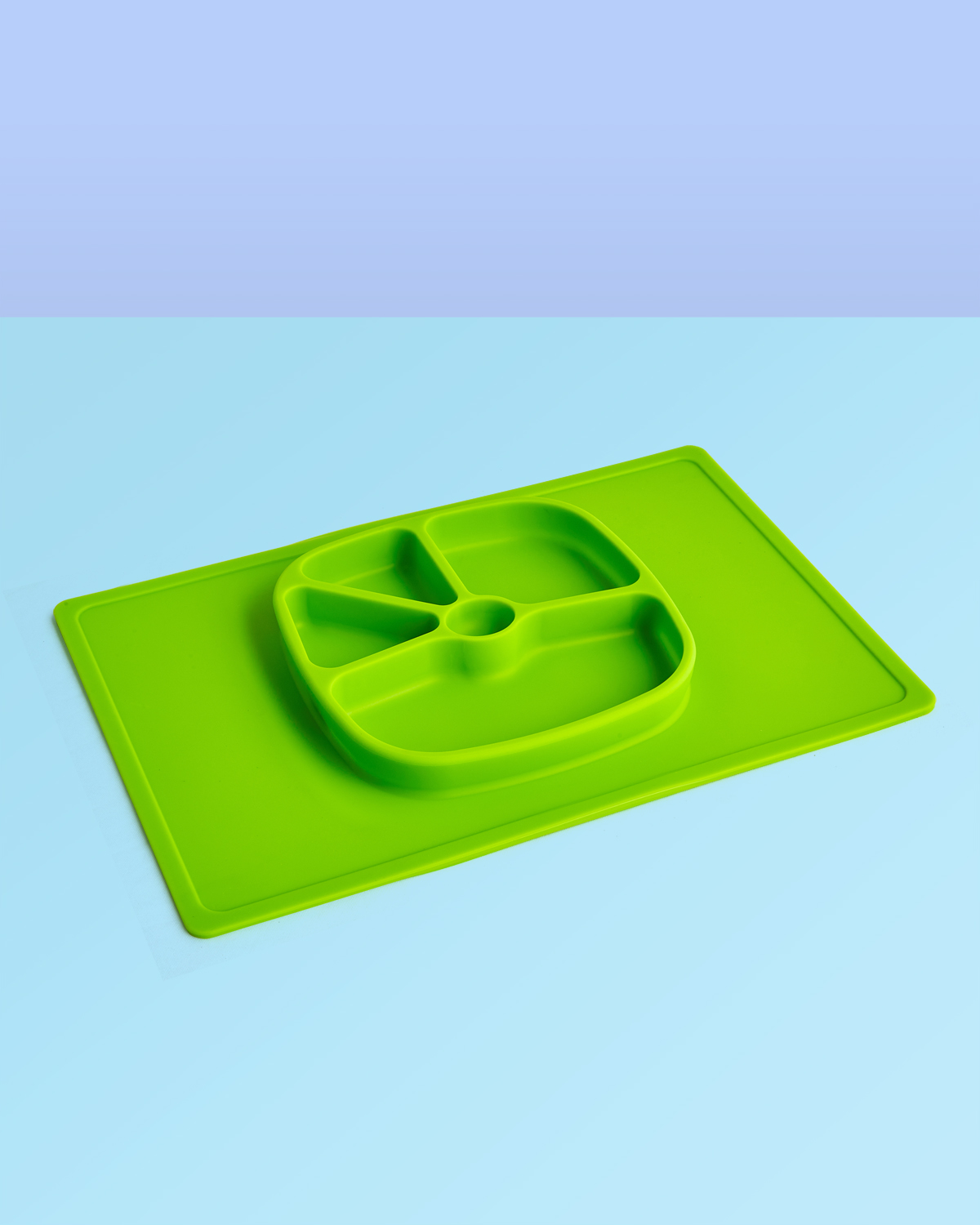 Children's PlacematSilicone Placemat in Grass Green