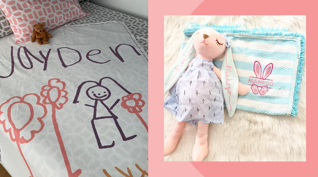 5 Online Stores To Find Personalized Swaddles And Blankets For Babies And Toddlers