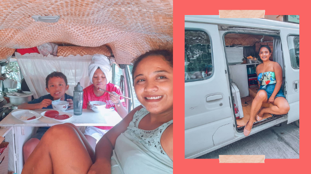This Pinay Mom And Her Kids Live In A Van! 'Traveling Is Also Education'
