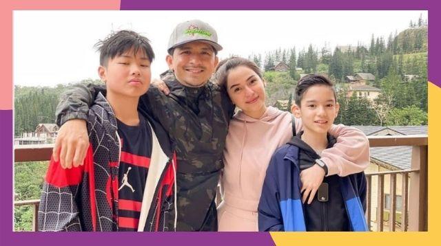Larawan Ng Kasiyahan Sina Jennylyn Mercado At Dennis Trillo Kasama Ang Mga Anak