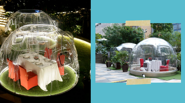 This Local Hotel Has Private Bubble Pods Where Families Can Dine And Relax Outdoors