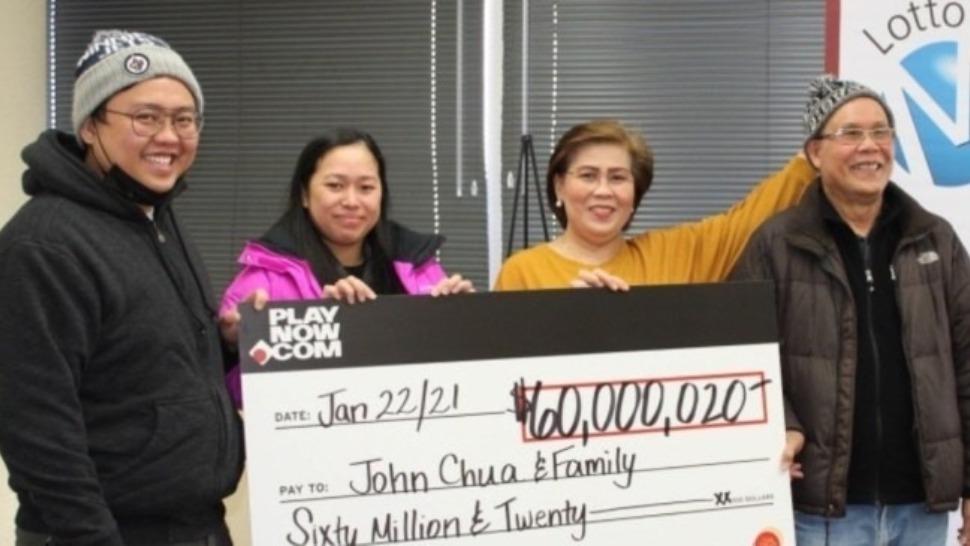 Filipino Family In Canada Wins Lottery Jackpot Worth P2.25 Billion