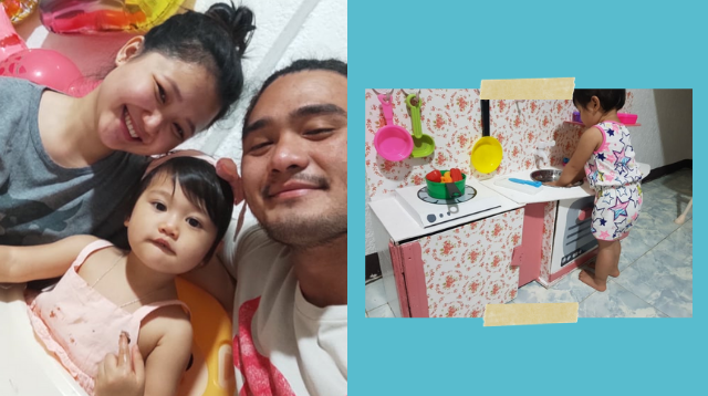 OFW Dad Who Came Home On Vacation Makes DIY Kitchen Playset For Daughter