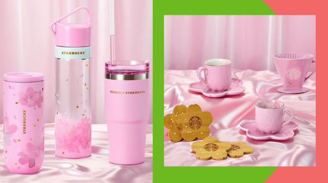 Bagay Sa Pink Workstation! Starbucks Released A Cherry Blossom Drinkware Collection
