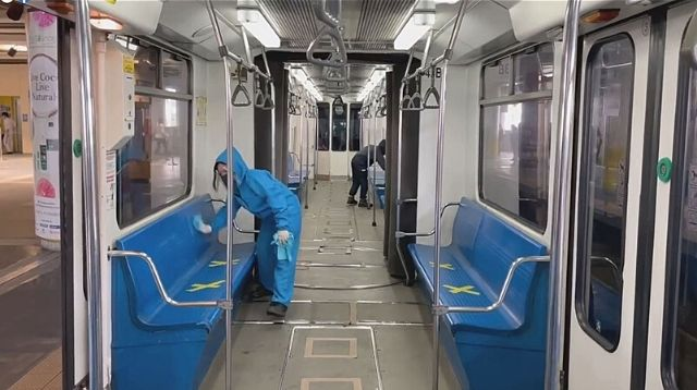 DOTr MRT-3: Trains Get Disinfected Japanese Way, Will Discipline Cleaning Crew