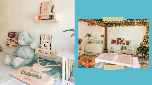 This Mom Turned A Messy 'Tambakan' Into A Dreamy, Montessori Playhouse For Her Toddler