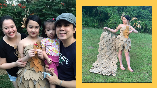 OFW Dad Makes A Beautiful Dress Out Of Balikbayan Boxes For His Daughter