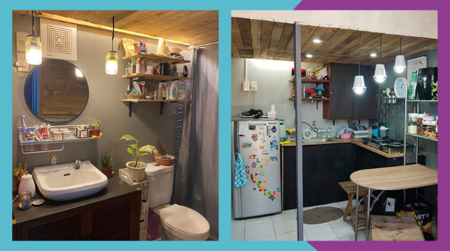 Couple DIYs Tiny Home Renovation For Their Family Of 3 'Dahil Bored Si Hubby'