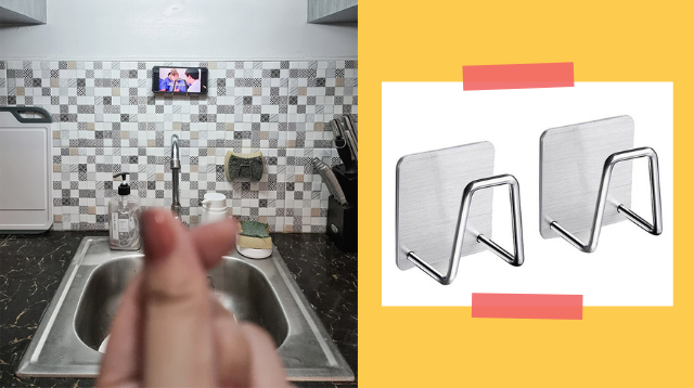 This Hack Lets You Watch Shows On Your Phone And Do The Dishes At The Same Time
