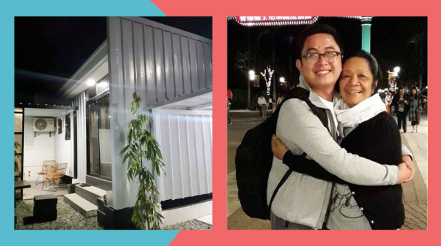 OFW Nurse Surprises Mom With Container Home That Has An Outdoor Jacuzzi!