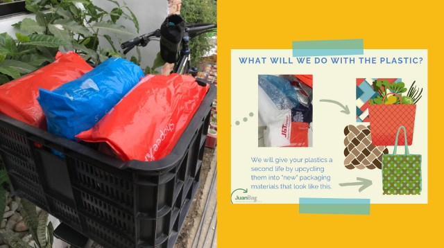 Nakakabilib! This Brand Recycles Lazada And Shopee Packaging Into Reusable Bags