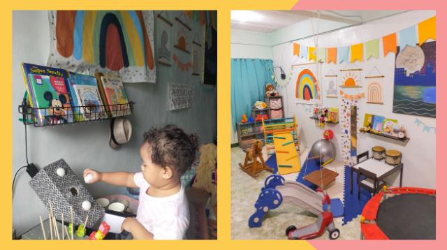 House-Zoona! Mom DIYs Indoor Playground So Toddler Can Lessen Screen Time