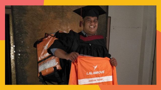 This Dad Works As A Delivery Rider, Finishes College Thanks To Generous Tips