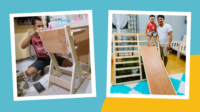 Laking Tipid Kapag Andiyan Si Daddy! See DIY Projects These Fathers Made For Their Family