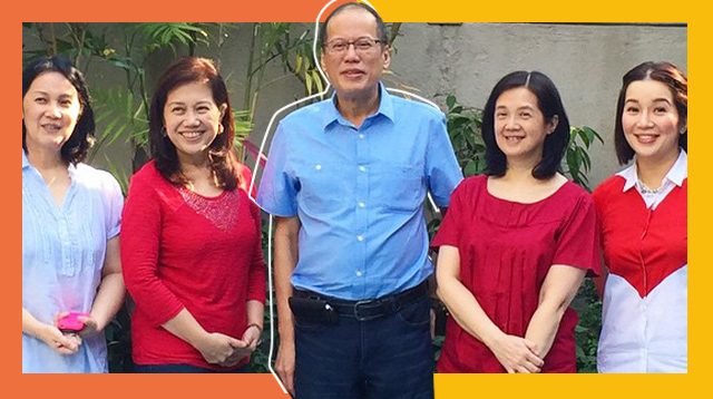 Aquino Sisters Thank Noynoy's 'Tropa' At Times Street Led By Housekeeper Yolly Yebes