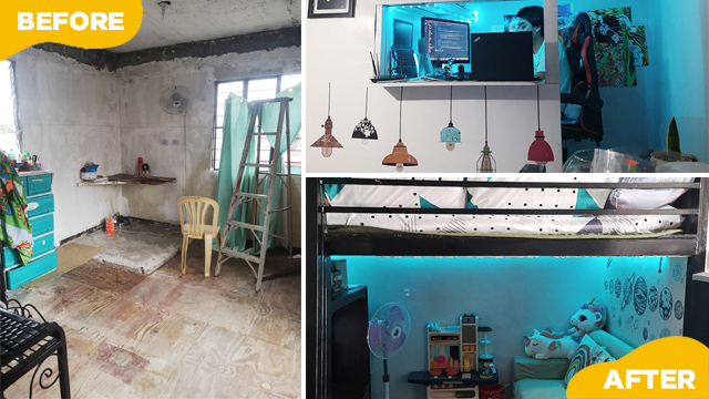 Mini Bahay Inside A House! Couple Renovates In-Laws' Third Floor Into Their Family Home
