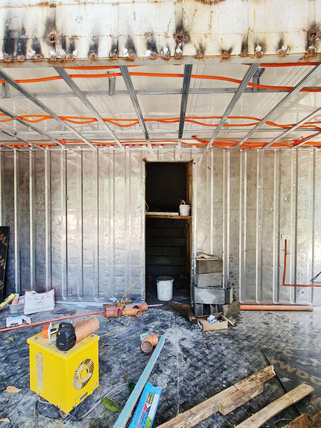 One of the challenges of working with container vans is making sure it's well-insulated and properly ventilated