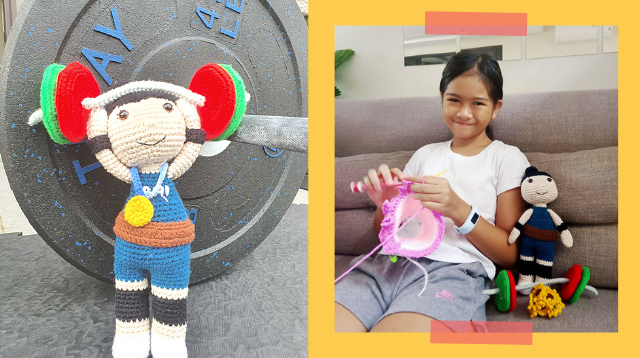 10-Year-Old Crochets Hidilyn Diaz Doll, Uses Earnings To Help Others