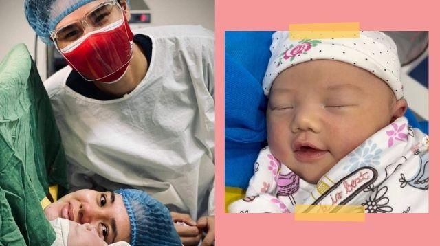 Ginebra Player Arvin Tolentino, Wife Brandy Kramer Welcome Their First Child