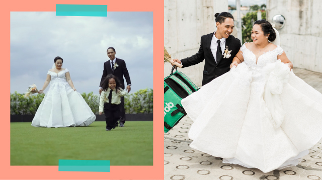 'Simpleng Pangarap': Delivery Rider And His Partner Achieve Dream Wedding Thanks To Grab