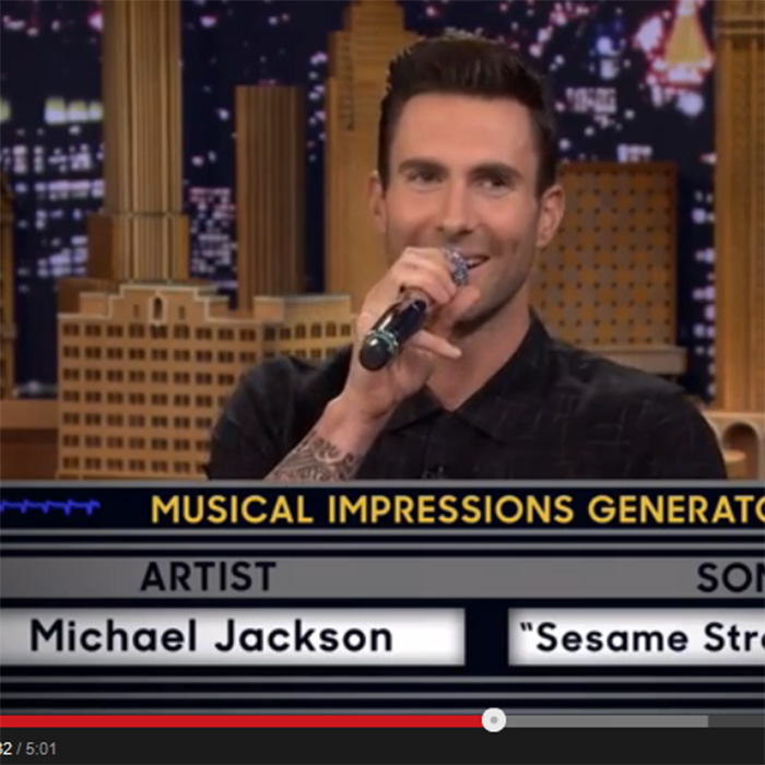 This Made our Day: Rock Star Adam Levine Sings the Sesame Street Theme a la Michael Jackson