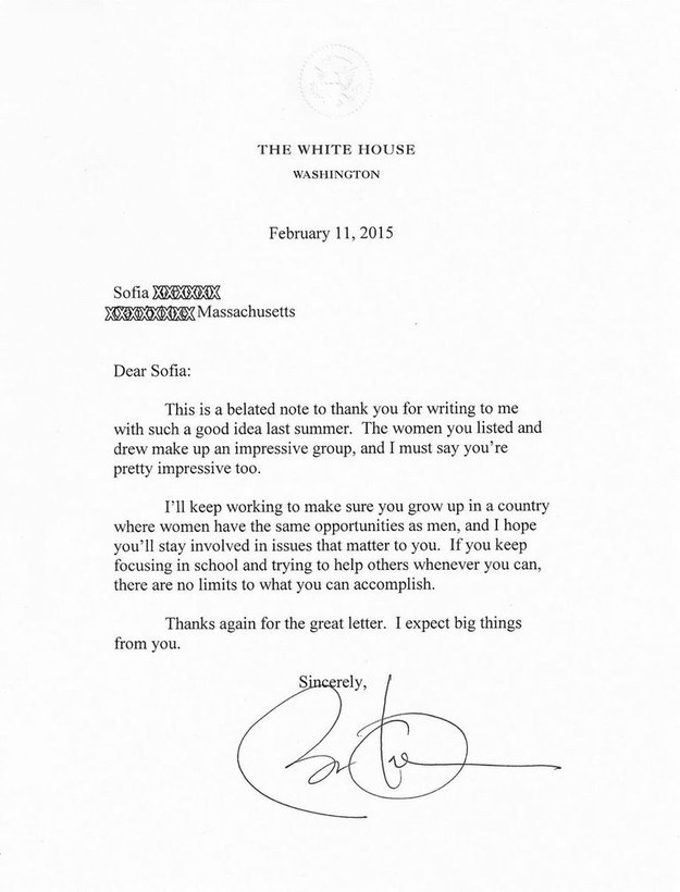 Obama's reply