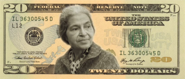 Rosa Parks on a US bill