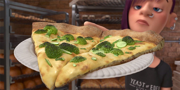 Broccoli pizza from Inside Out