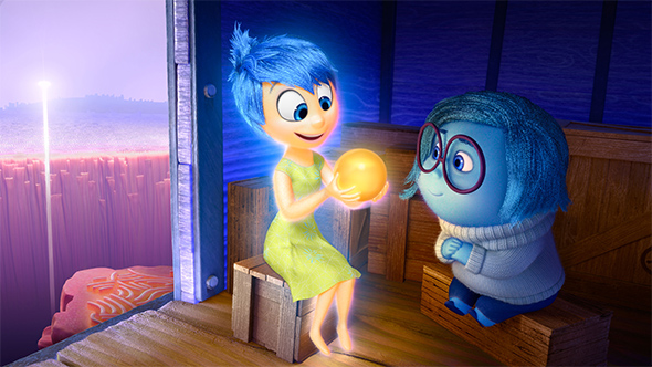 Joy and Sadness from the movie Inside Out